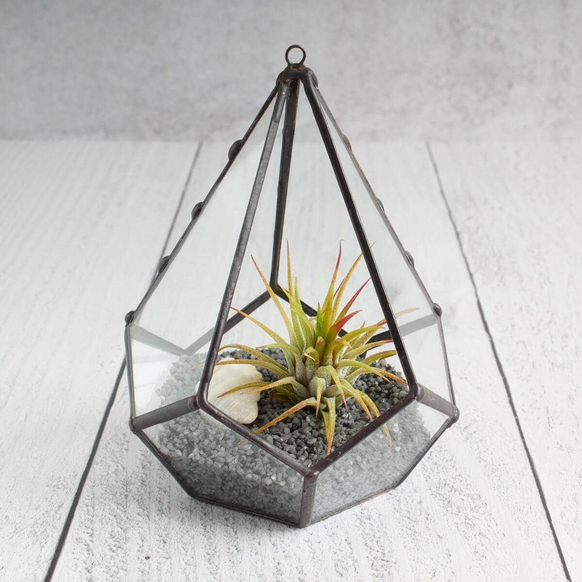 Stained Glass Tiny Teardrop Terrarium Air Plant Holder 1